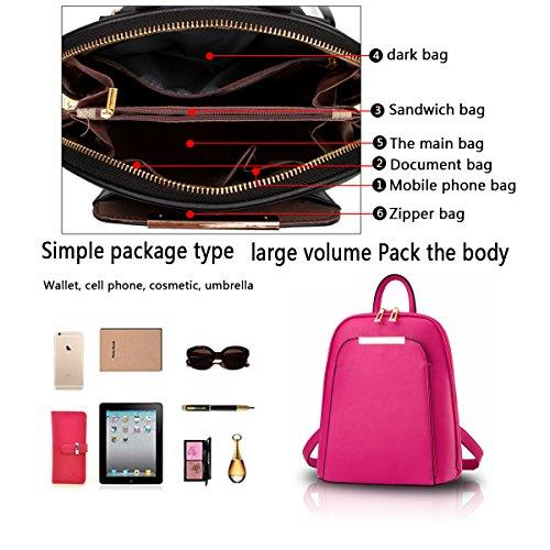 Tisdain Le signore di cuoio dell'unità di elaborazione dell'unità di elaborazione del sacchetto di spalla casuale di modo femminile dell'unità di elaborazione adattano il raccoglitore mini Rosa rossa