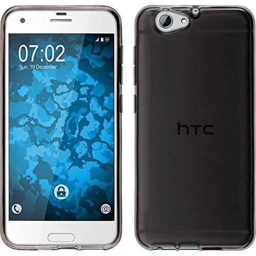 PhoneNatic Case kompatibel mit HTC One A9s - grau Silikon Hülle transparent Cover