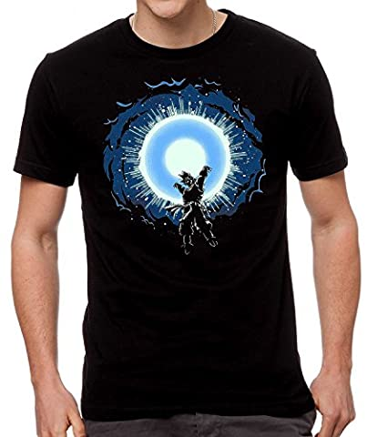 GOKU Blue Blast Mens Unisex T-Shirt - New Dragon Ball