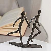 Casablanca 74569 Design Skulptur - Dekofigur -Running - Laufendes Paar Eisen brüniert 17 x 18 x 7 cm
