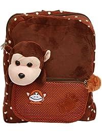 BRANDX Crazy Monkey Soft Toy School Bag For Kids, Kindergarten Bag, Carry Bag, Picnic Bag, Teddy Bag, Non-toxic...