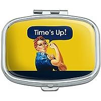 Time 's Up sagt Rosie The Riveter Rechteck Pille Fall Schmuckkästchen Geschenk-Box preisvergleich bei billige-tabletten.eu