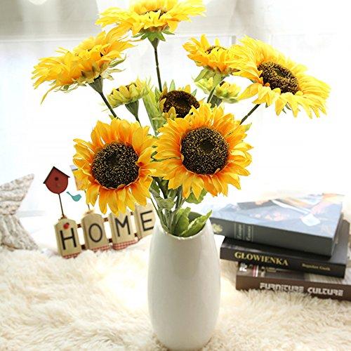 Künstliche Sonnenblume 2 Stk als Hochzeit/Haus Dekoration LianLe