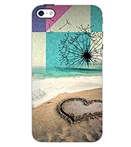 PrintDhaba HEART PATTERN D-6474 Back Case Cover for APPLE IPHONE 4S (Multi-Coloured)