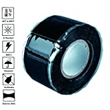 Self Fusing Silicone Sealing Tape, 25mm x 0.5mm x 3m, Strong, Fast Waterproof Solution for Electrical Cords, Pipe Plumbing & Water Hose Leaks, Stretch, Wrap & Seal, Black -by Sipudo
