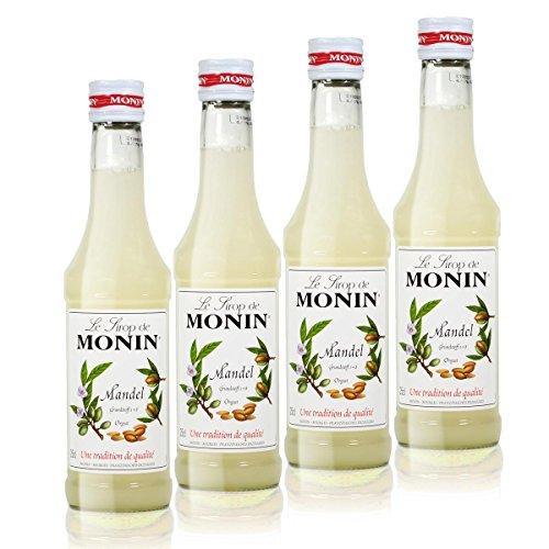 4x Monin Mandel Sirup, 250 ml Flasche