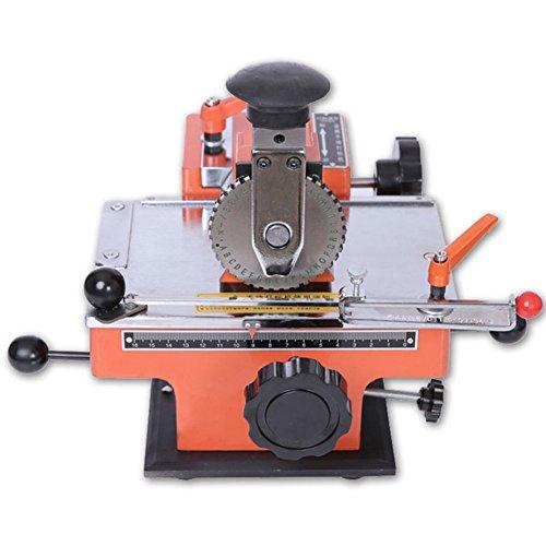 embosseuse D Etikett de Metall de Hinweisschild Semi Automatische-4mm emboutissant die Maschine Abonnement-Druckertisch