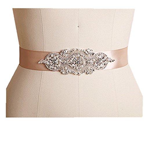 Trlyc Hochzeitsschärpe/-gürtel mit Strass-Applikationen, Sonstige, trlyc white and ivory ribbon,...