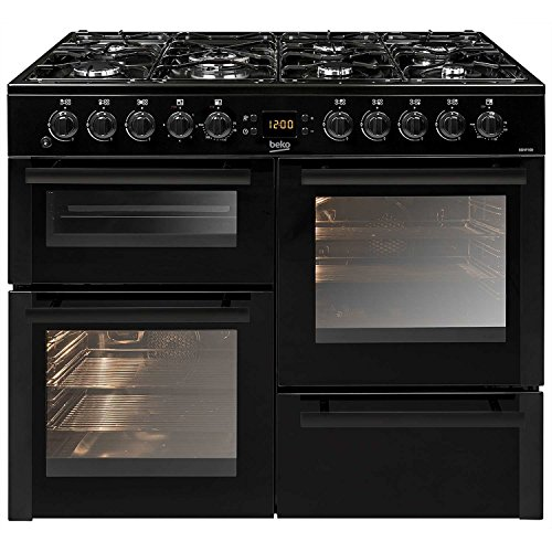 Beko BDVF100K 100cm Double Oven Dual Fuel Range Cooker Black