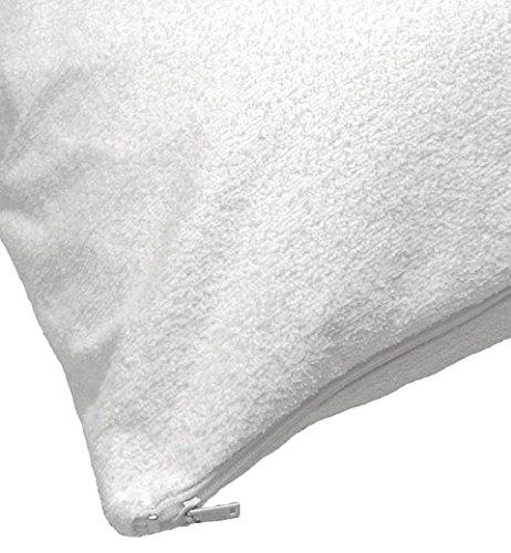 Gesteppter Matratzenschutz, Bezug, extra tief, vollständig anpassbar, PVC, weiß, Terry Pillow Protector -