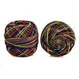 #7: Embroiderymaterial Crochet Cotton Thread Yarn for Knitting and Craft Making(Multi 20 Gram 1 Roll)