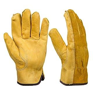 Gants de Protection Horticoles en Cuir Gants de Réparation Gants de Mécanicien pour Travail de Jardin