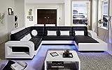 SAM® Design Wohnlandschaft New York mit LED Beleuchtung in Schwarz