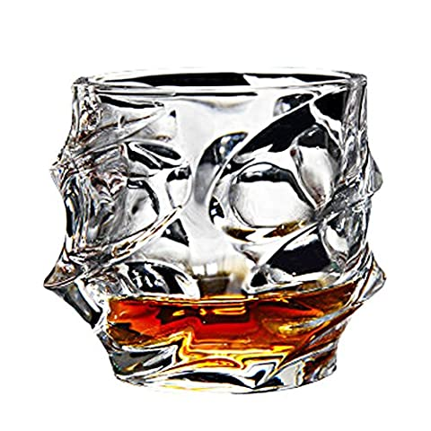 Barware En buvant Lunettes de cristal sans plomb Verre Whisky Verres à vin, 320ml