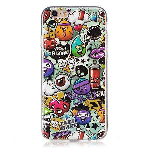 Qiaogle Téléphone Coque - Soft TPU Silicone Housse Coque Etui Case Cover pour Apple iPhone 5C (4.0 Pouce) - XS30 / Fantaisie Papillon XS33 / Wow! Brains! Your Mind is Free!