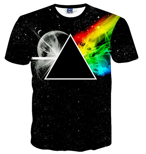 Yonbii  Herren T-Shirt Multicoloured-Q11