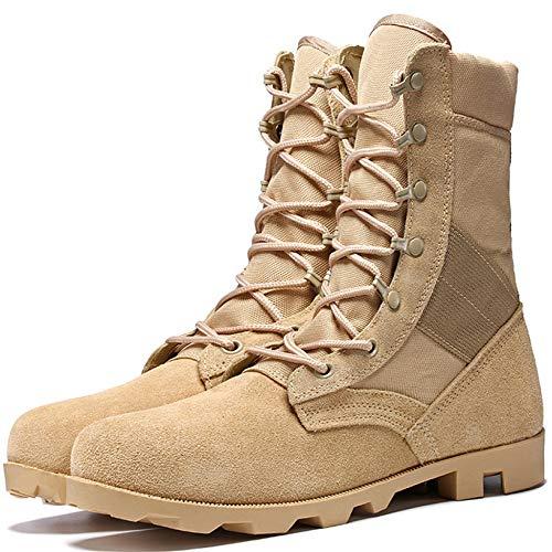 Botas Altas Para Hombre Botas Militares Del Ejército Para Trekking Al Aire...