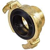 Agora-Tec Messing Schnellkupplung mit 3/4 Zoll (26,4 mm) Außengewinde Kupplung mit Schnellverschluss