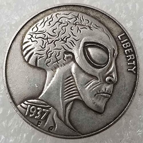 YunBest Best Morgan Silber-Dollars - Hobo Nickel Münze - 1937 Münze zum Sammeln - Silber-Dollar USA Old Morgan Dollar BestShop (Silber Morgan Dollar)