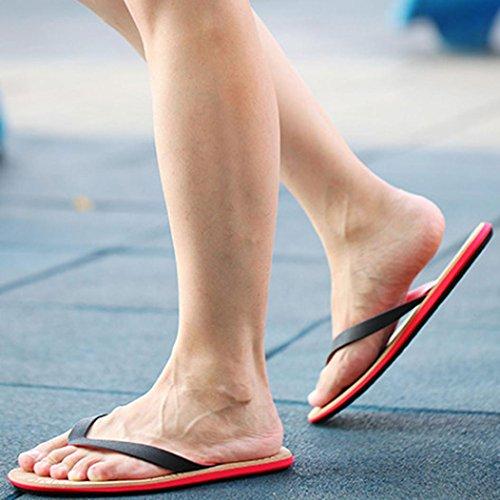 Herren Flip-Flops, SHOBDW Männer Strand Schuhe Sommer Flip Flops Schuhe Sandalen Herren Slipper Flip-Flops Schwarz
