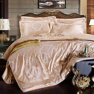 GANTA® Blumen Seide 4 Stück Bettbezug-Sets , queen
