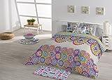 Edredón Nórdico Estampado - ENVÍO GRATUITO - Todas las medidas de cama - Fabricado en España - Edredón Colcha de cama Mod. Aranda (Cama de 105cm)