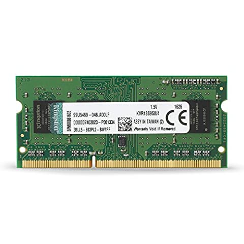 Kingston 4 GB 1333 MHz DDR3 Non-ECC CL9 204-Pin SO-DIMM ValueRAM Memory, 1.5 V