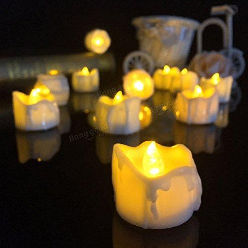 Pegasus 1pcs los 3.6 * los 4.3cm accionaron por baterías la decoración de la Navidad de la luz de la noche del té de la vela de LED #