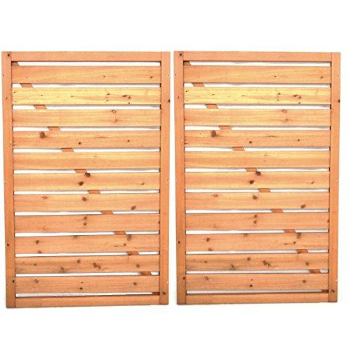 *Mülltonnenverkleidung Rückwand Mülltonnenbox Holz für 2 Mülltonnen 240l*
