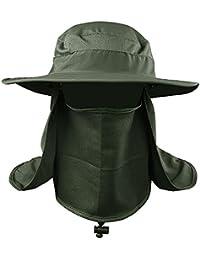 VANKER Senderismo Pesca Sombrero Deportes al aire libre Sol Protección UV Cara para Mujeres Hombres -