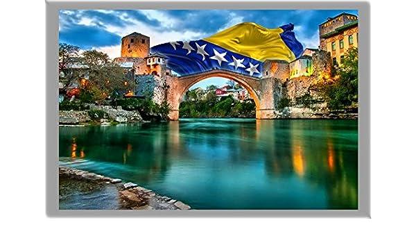 THE CAPITAL CITY OF BOSNIA AND HERZEGOVINA REFRIGERATOR MAGNET SARAJEVO AIMANT POUR LE FRIGO