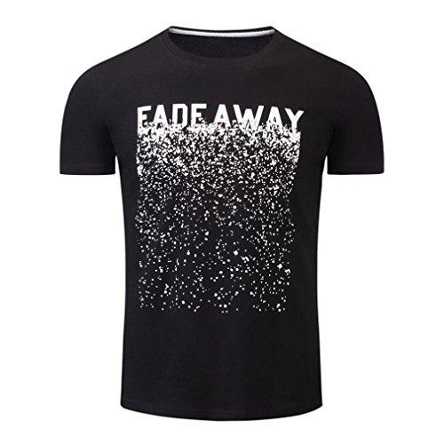 Herren T-Shirt Forh Männer Beiläufige Sommer Sport Shirts Kurzarm Shirt O-Ausschnitt Baumwolle Oberteil Casual Tops Mode Drucken Sweatshirt Bluse Pullover