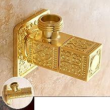 rame antico intagliato completa/valvola di angolo caldo e freddo/WC continentale Triangolo valvola di chiusura dell