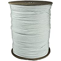 1000' Foot Spool White Parachute Cord 7-Strand Core 550 Cord by PARACORD PLANET
