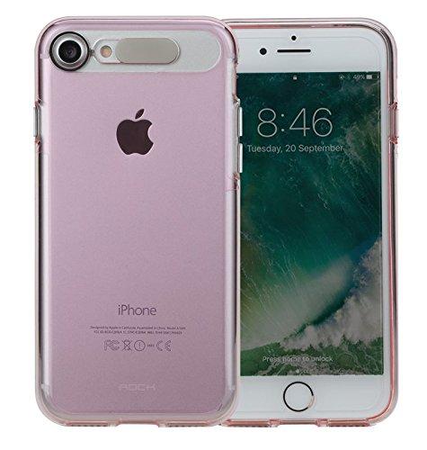 ORIGINALE ROCK-iPhone 7Custodia Light Tube Series Custodia impermeabile Case Cover posteriore rigida per cellulare in Pink Ink. Pellicola Protettiva in Vetro Temperato