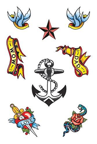 Sailor Theme Tattoos costume Accessory Navy Fancy (Dress Fancy Sailor)