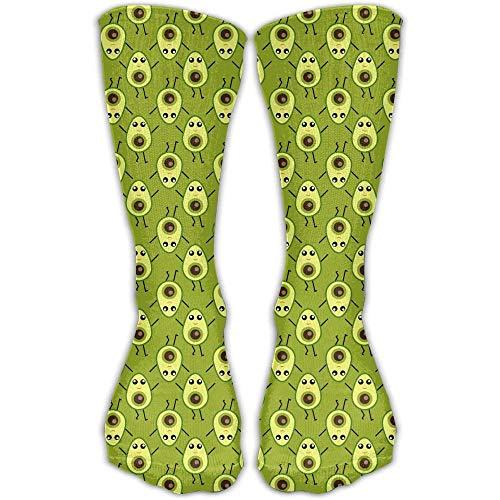 Desing shop Women Cute Cartoon Avocado High Sock Shoe Size 6-10 19.68 inch