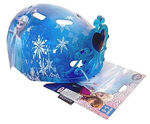 Bell Sports Disney Frozen Youth Child Hardshell Multi Sport 3D Safety Helmet Cooling Vents Removable Tiara Blue Youth Child 5-8 by