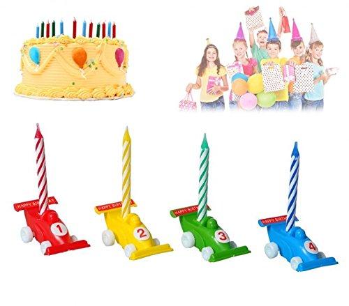 565110 Set Porte Bougies En Forme De Voiture 12 pièces y compris de bougies. MEDIA WAVE store ®