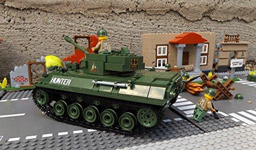 ★ World of Tanks 3006 – Bausteine US ARMY Panzer, 465 Teile, leichter Jagdpanzer M18 Hellcat, inkl. custom US ARMY Soldaten aus original Lego© Teilen ★ - 5