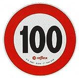Geschwindigkeitsaufkleber 100 km/h, reflektierend, Ø 200 mm, Italien