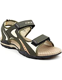 FUEL Men's Fashionable Designer Velcro Closure Sports Casual Sandals for Boys