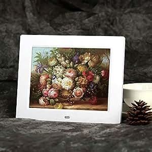Andoer® 8 ' Digital Photo Frame TFT-LCD HD Sveglia MP3 film MP4 con Desktop Remoto