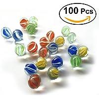 TOYMYTOY 100pcs 16MM vidrio modelado colorido perlas bolas de cristal para niños
