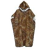 DIMPLEYA Handtuch Poncho Schnell Trocknender Bademantel Bademantel Leopard Tauchmantel Mantel Sonnencreme Schnell Trocknend Weich Hautfreundlich Im Freien Reisen