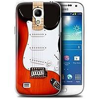 Gedruckt Schutzkoffer Schutzhüllen / Hülle für Samsung Galaxy S4 Mini / Rot Electirc Muster / Gitarre Kollektion