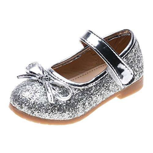 Kids Baby Sandals Toddler Infant Little Girls Bling Sequin Ribbon Bow Single Shoes Princess Sandals