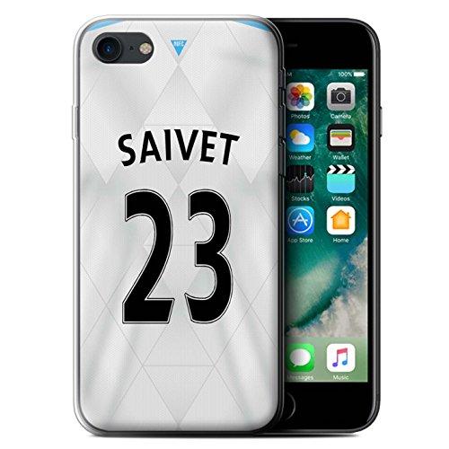 Officiel Newcastle United FC Coque / Etui Gel TPU pour Apple iPhone 7 / Mitrovic Design / NUFC Maillot Extérieur 15/16 Collection Saivet