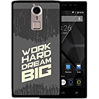 Funda Doogee F5, WoowCase [ Doogee F5 ] Funda Silicona Gel Flexible Frase Motivación - Work Hard Dream Big, Carcasa Case TPU Silicona - Negro