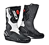 Sidi Fusion Bottes de Moto, Noir/Blanc, 45